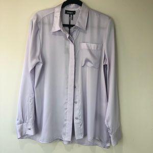 DKNY Lavender Button Top Size Large